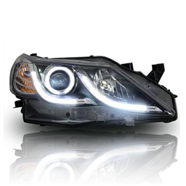 优玛新锐志大灯总成 优玛改装车外灯天使眼双光透镜氙气灯 新锐志大灯 自动版泪眼大灯+氙气灯 单只