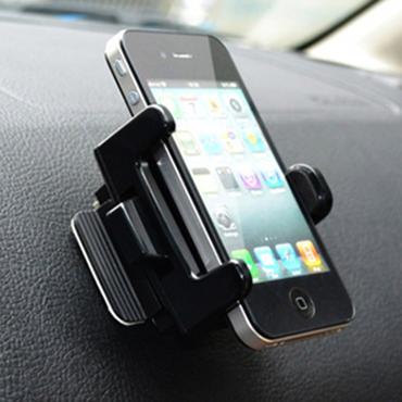车之魂 车载手机架出风口车用支架汽车手机座手机垫 可旋转车内饰品 黑色