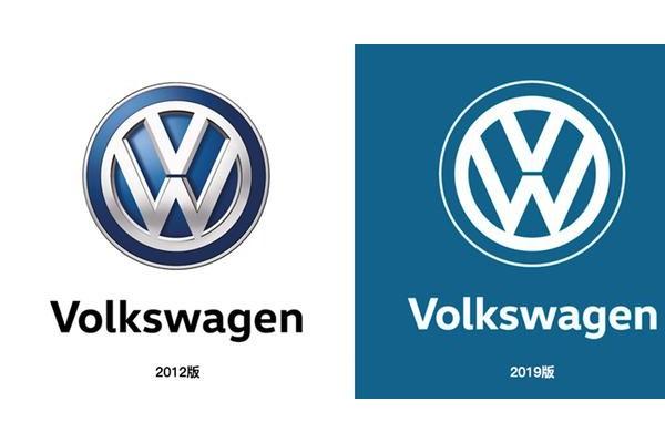 虽然没有3D效果,但科技感更强,我们搞到了大众汽车的新logo