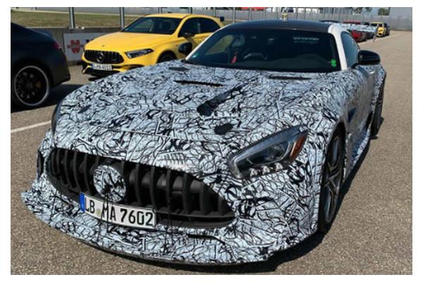梅赛德斯-AMG GT Black Series的路试谍照
