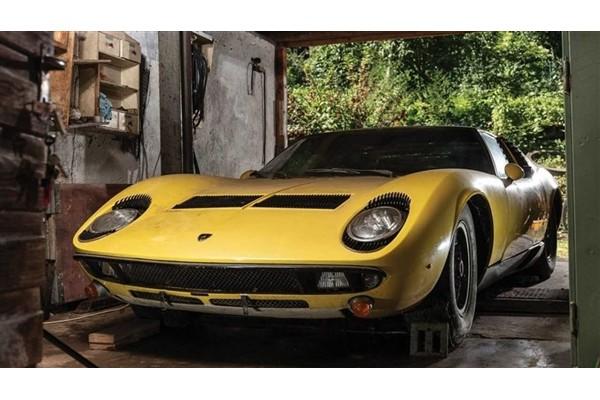 50年车龄兰博基尼Miura被发现 拍卖价值预计达90