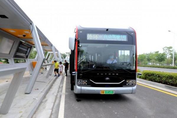 河南郑州:5G自动驾驶公交车试运行