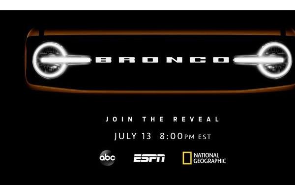 福特Bronco将成为Built Wild品牌 7月14日发布3