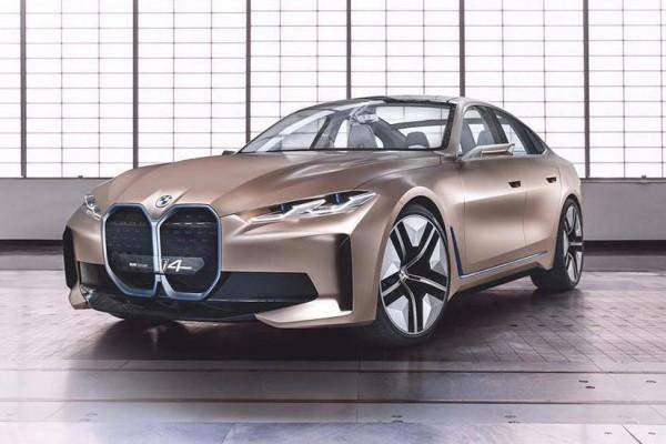 量产版宝马i4曝光 新车维持概念车的夸张大嘴 续