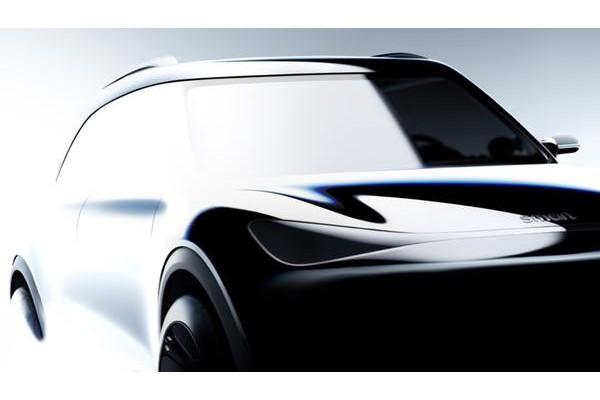 smart全新纯电动SUV设计图发布 量产版2022年上
